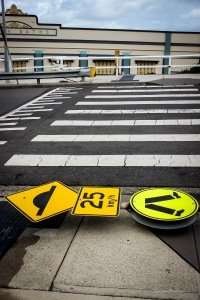fallen pedestrian sign (1 of 1)